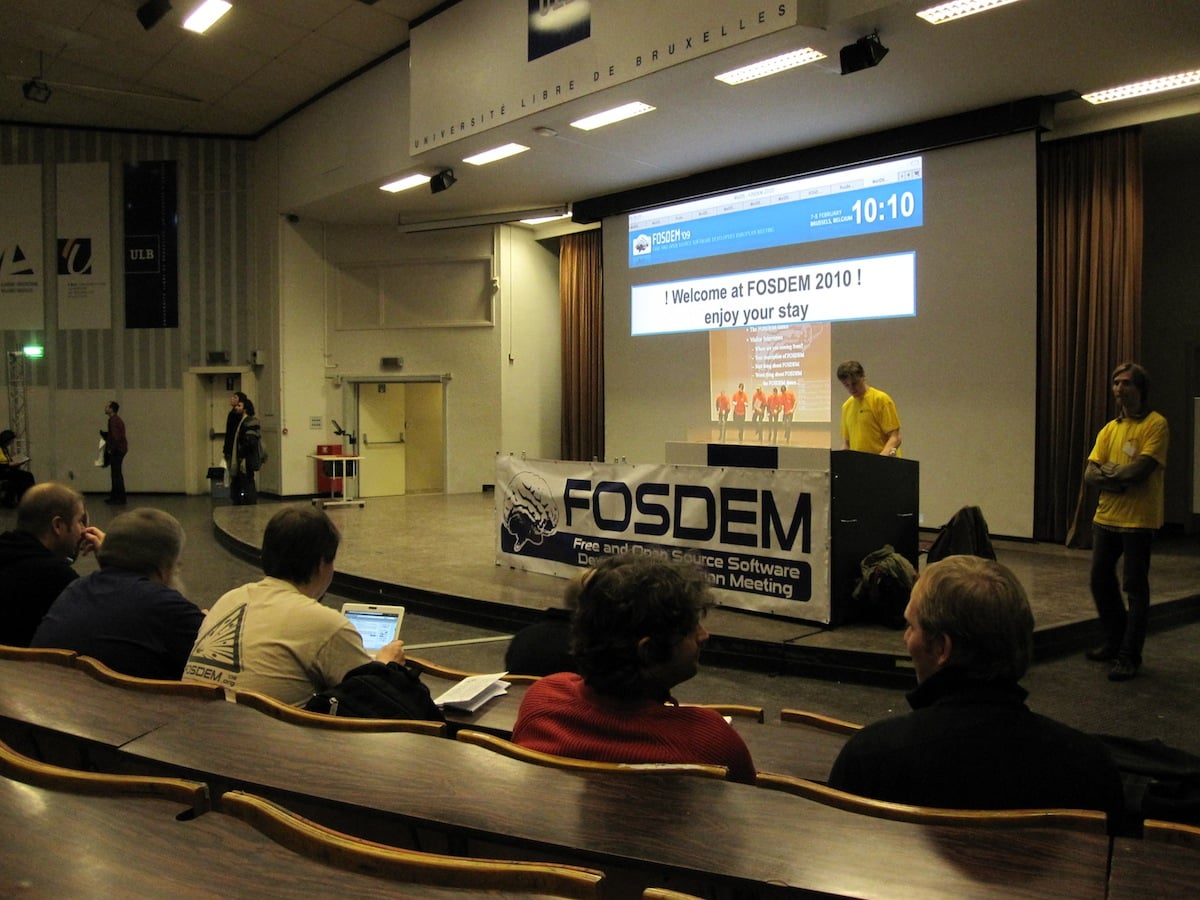 Just before Fosdem 2010 opening