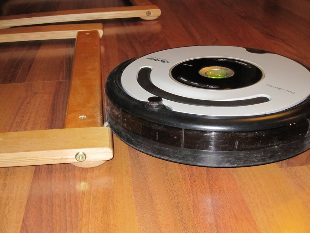 There you go, one happy Roomba