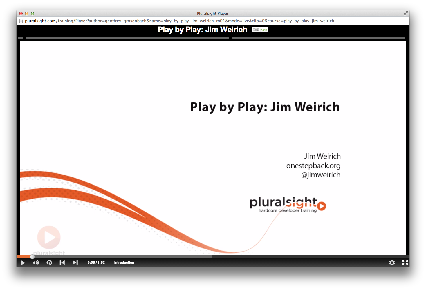 Play by Play: Jim Weirich