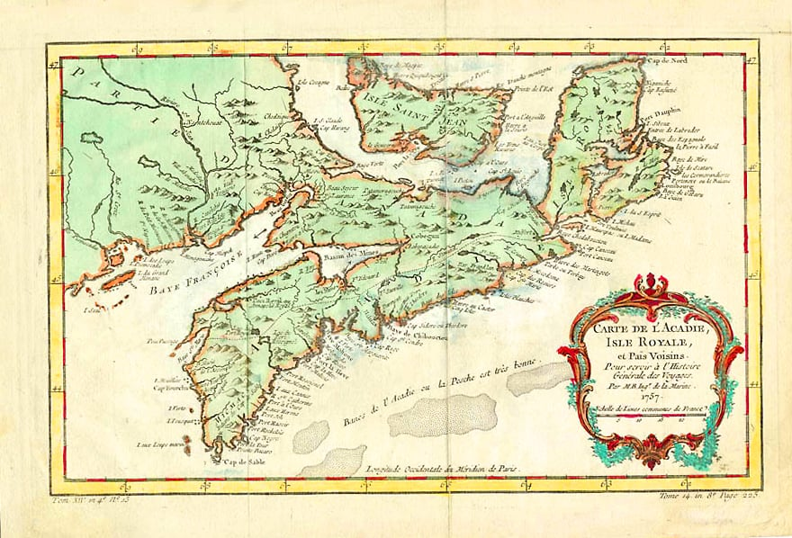 Acadie (present-day Nova Scotia) in the 1750s