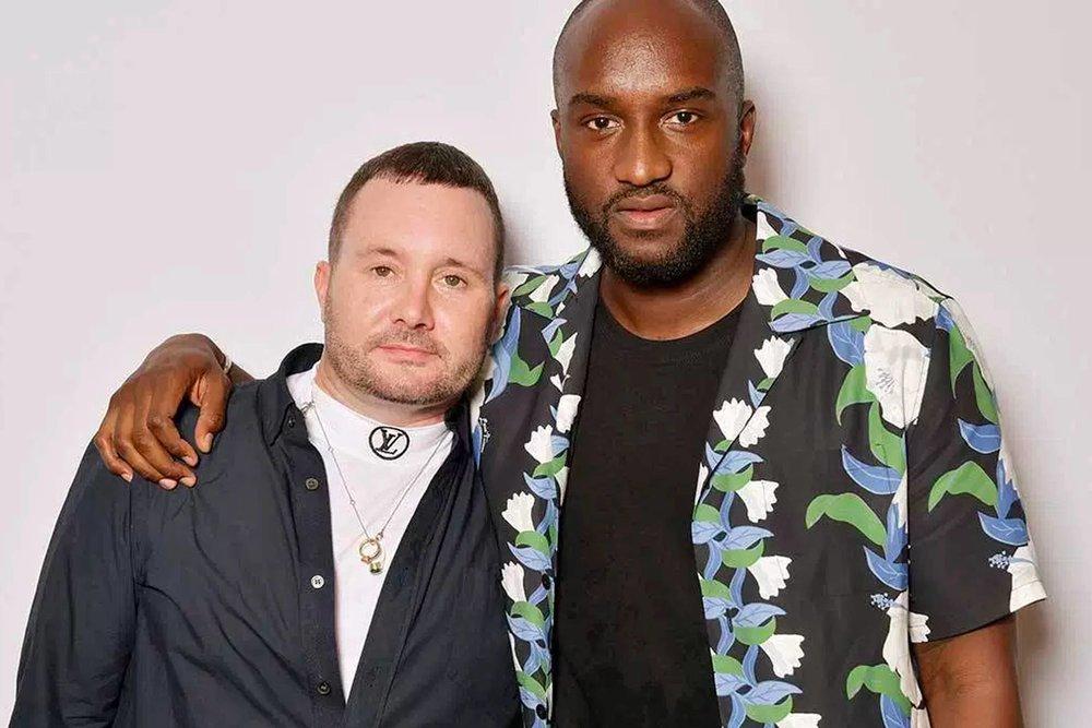 Virgil met de vorige hoofdontwerper Kim Jones.