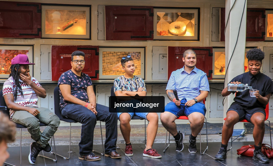 Transman in the city at COC's Shakespeare Club; courtesy of Jeroen Ploeger