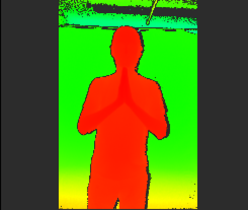 You can see here how the subject is almost completely a single color. This is bad! This means that the whole body exists at one depth, meaning your export will be almost flat.
