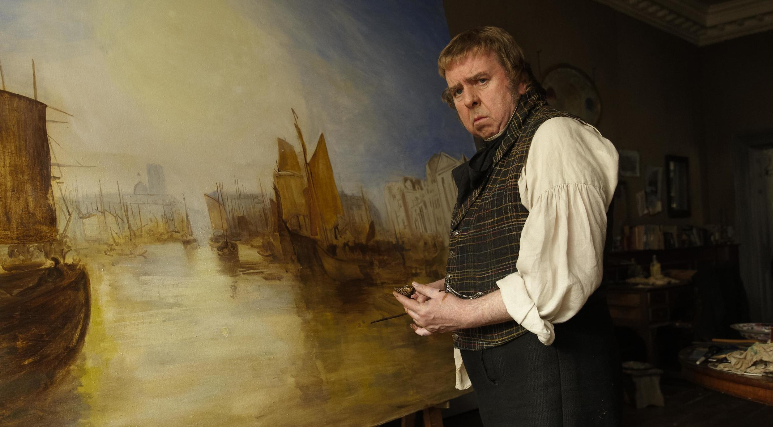Timothy Spall as J.M.W. Turner.