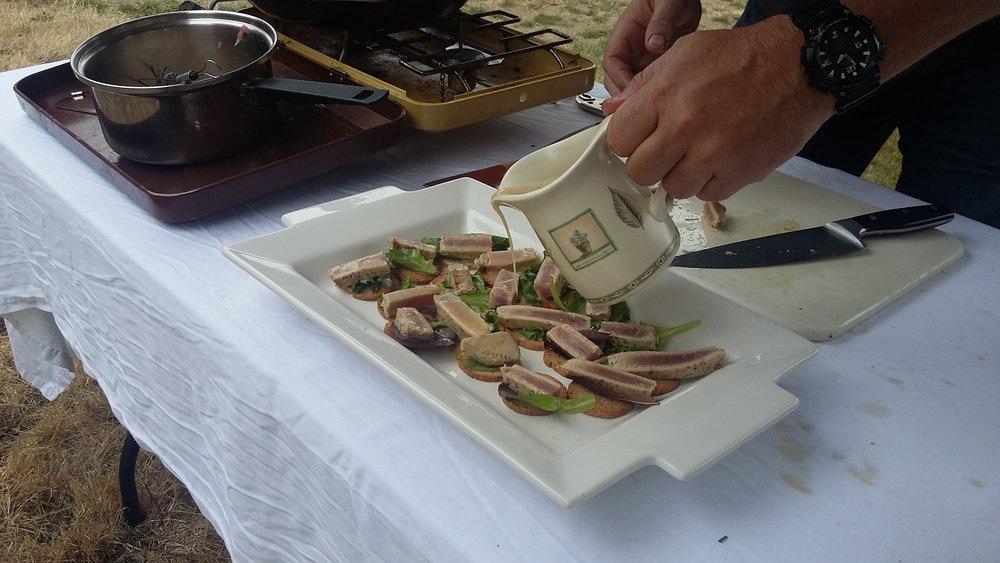 Wasabi Beurre Blanc with Seared Tuna
