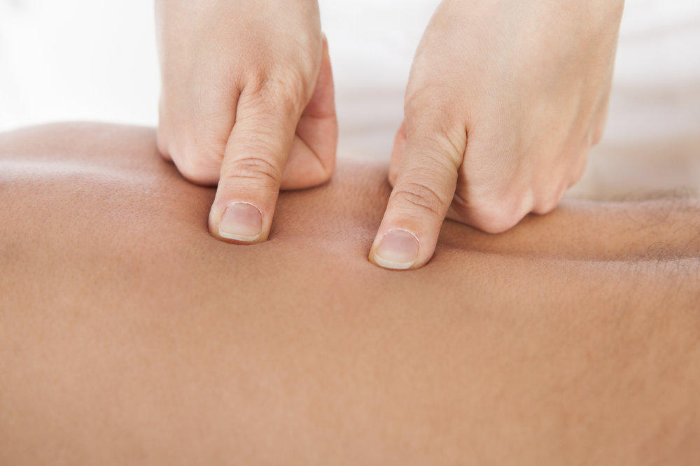 Shiatsu and Acupressure are Oriental-based systems of finger pressure massage which treat special points along acupuncture 'meridians', the invisible channels of energy flow in the body