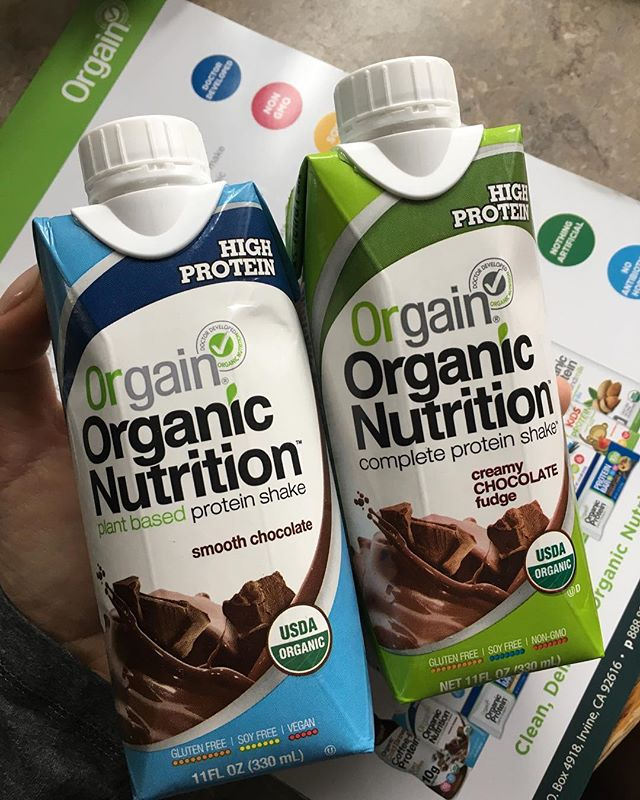 Thanks @drinkorgain for samples for my patients! I am SO excited that they even carry a #vegan version!! #dietitian #plantbasedprotein #vegan #protein #orgain #dietitanapproved