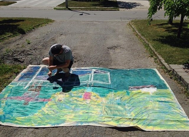 Connor painting in the Niagara Region