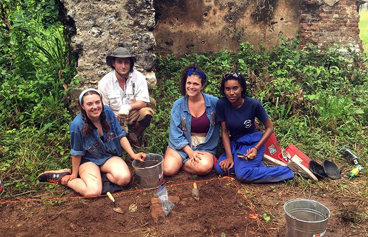 Saint Mary's students in Cuba at the Angerona plantation