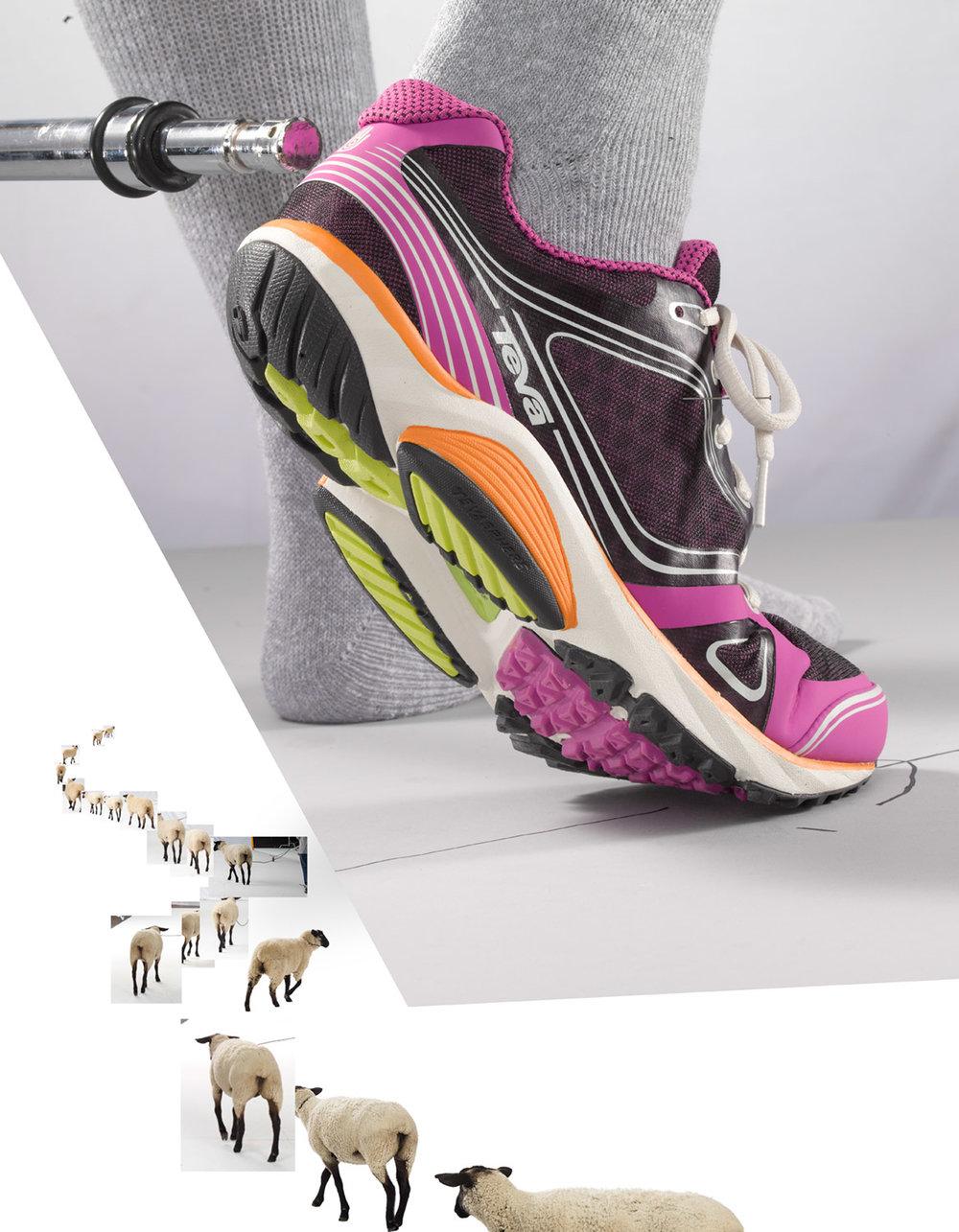 Un-retouched Pink TEVA Footwear