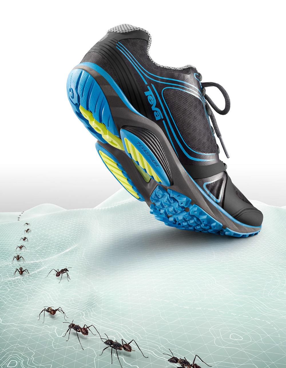 Retouched Blue TEVA Footwear