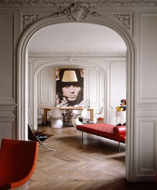 Photo of Rodolphe Menudier's Paris apartment via Apartment Therapy