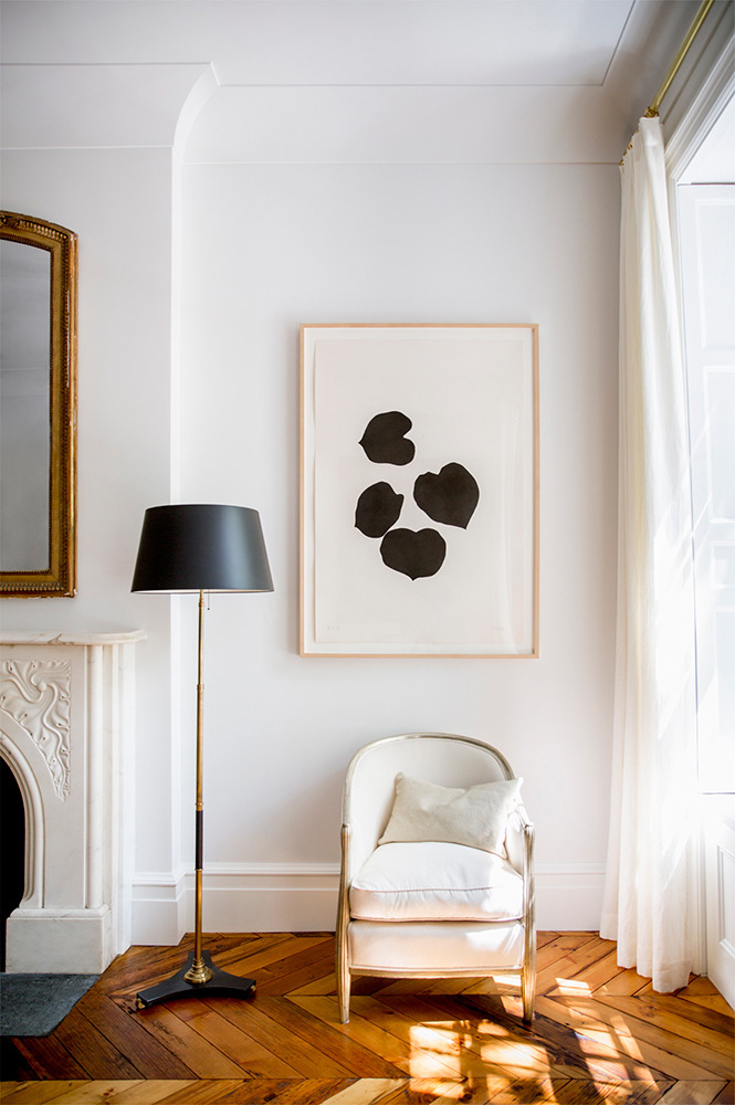 Photo of Ali Cayne's West Village home via Domino