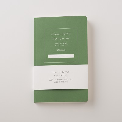 Public Supply Notebook Green