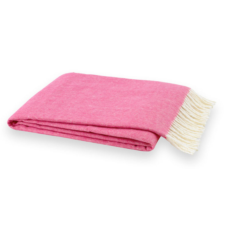 Biscuit Home Pink Throw