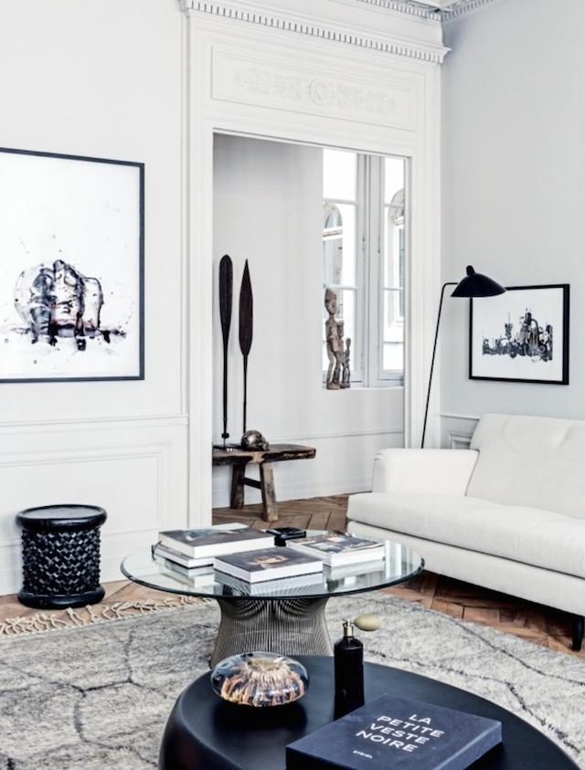 Living room of Martin and Garotin's Lyon home