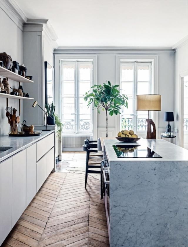 Kitchen of Martin and Garotin's Lyon home