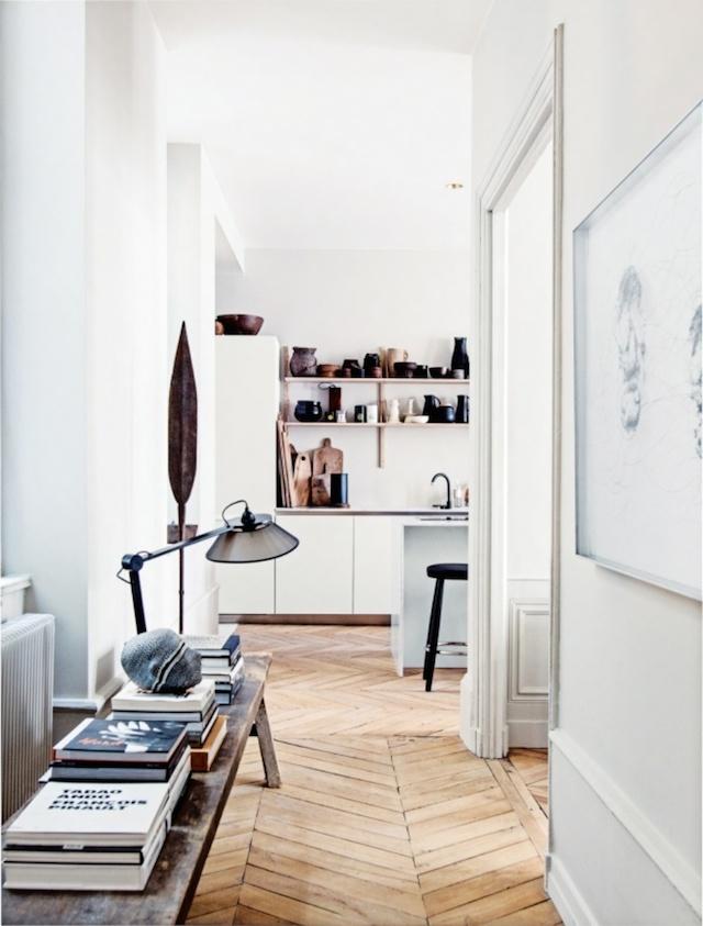 Hallway of Martin and Garotin's Lyon home