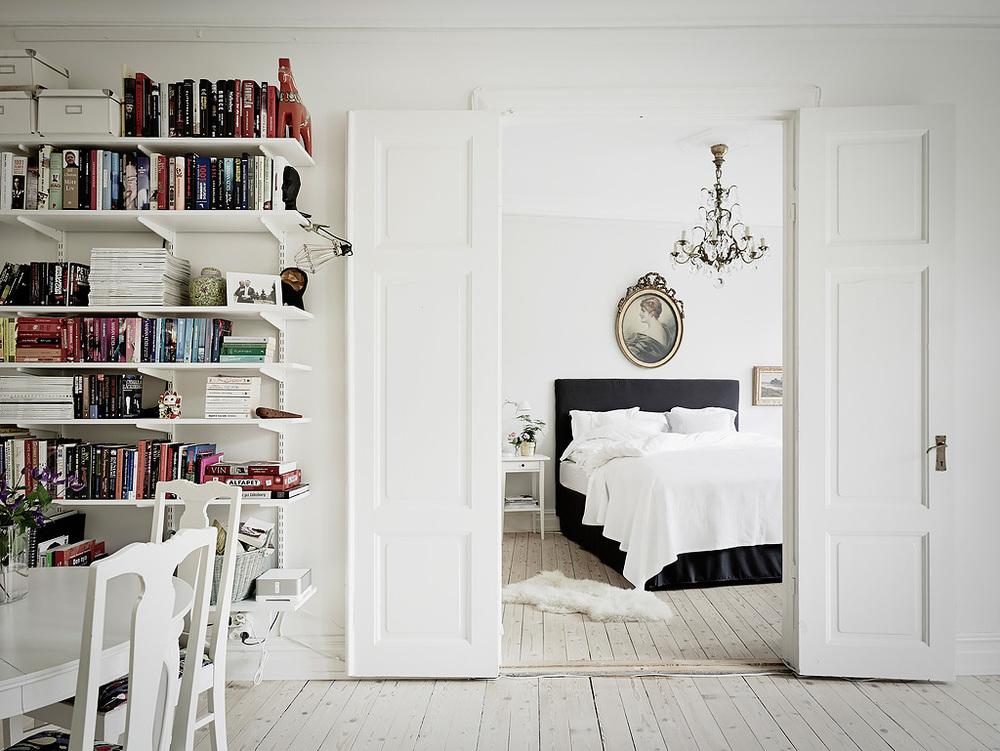 Bedroom of Swedish Apartment