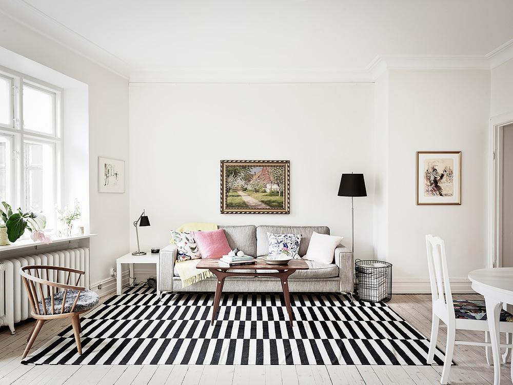 Living Room of Swedish Apartment