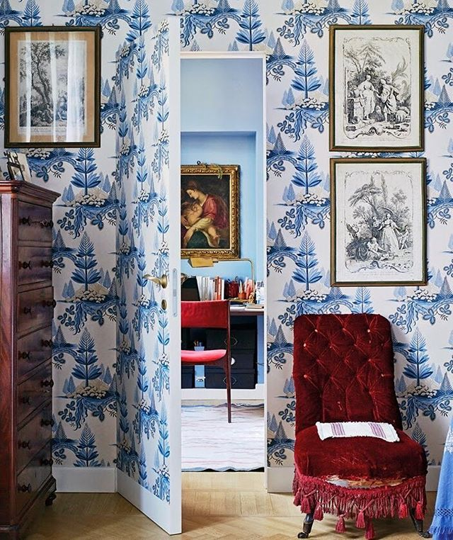 Gorgeous old world character in the Milan home of Benedetta Cibrario || photo by Annabel Elston via @tmagazine