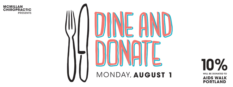 Dine and Donate for Aids Walk Portland Ad