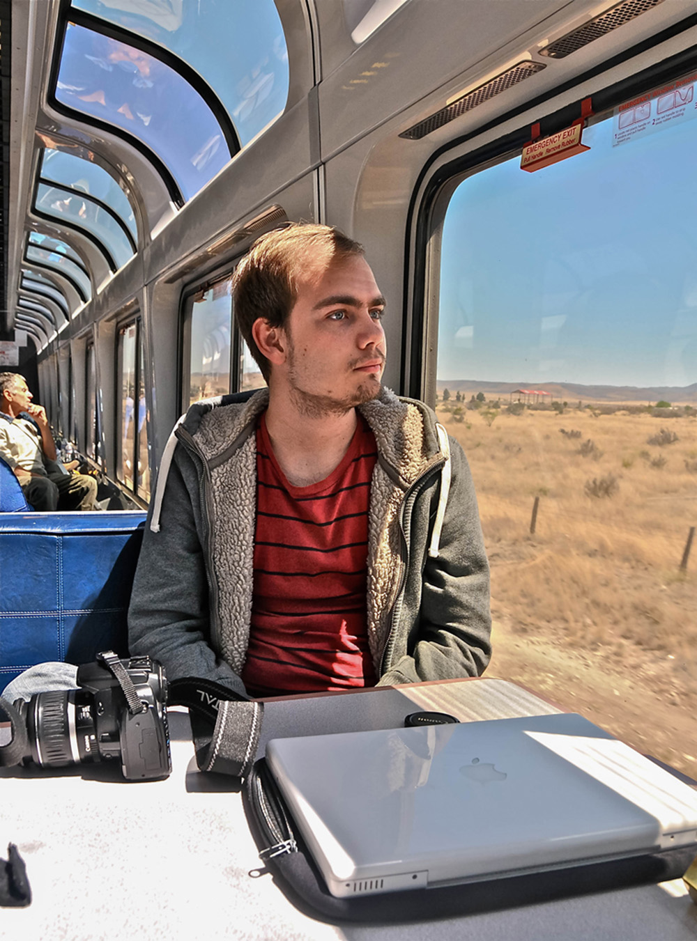 """""""Amtracks Series: Young fellow traveler to L.A."""""""