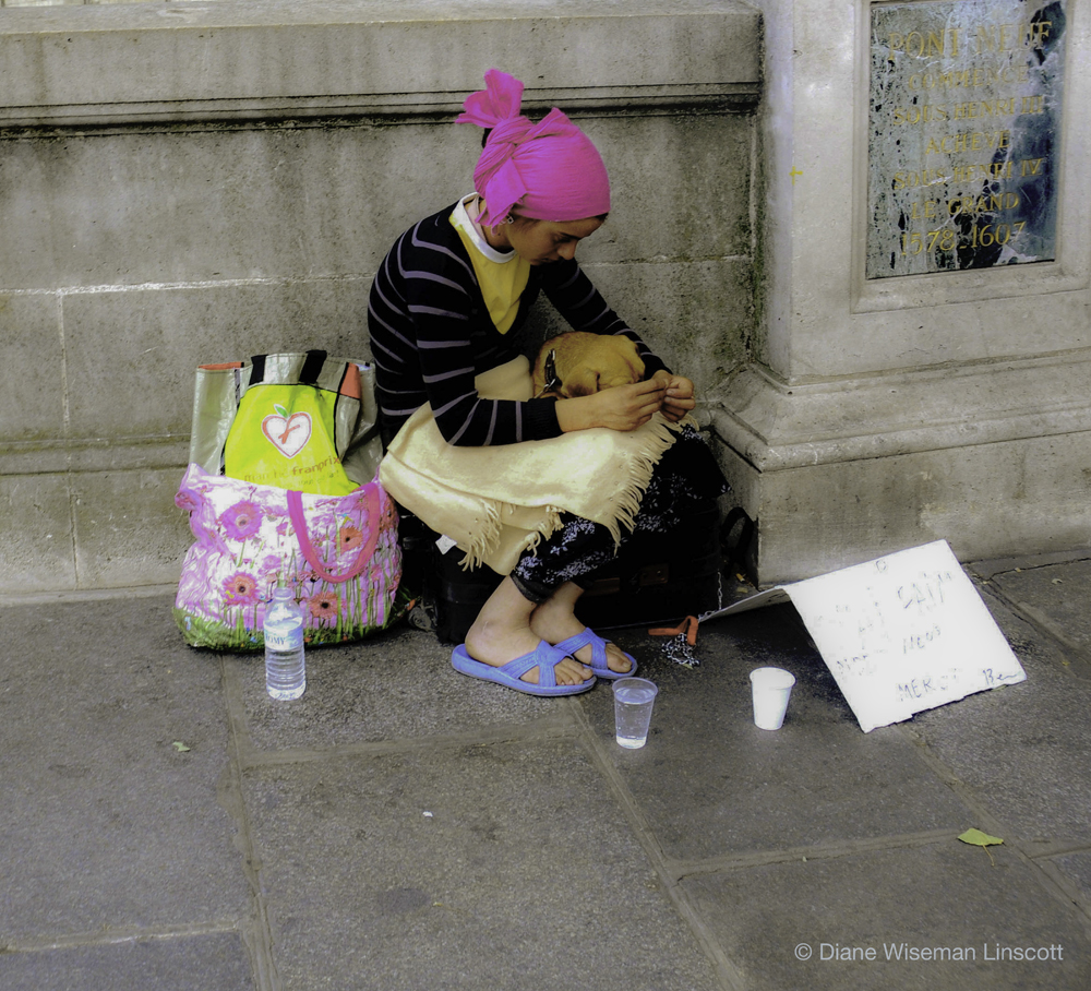 """""""Paris Canvas: Girl with dog"""""""