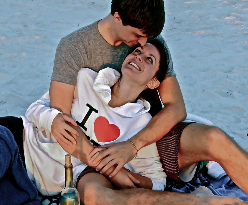 """AMI Beach Canvas: I Love"""
