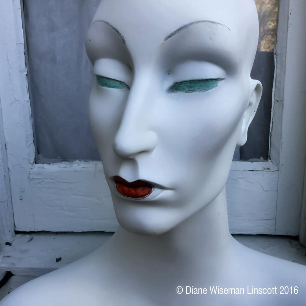 """THE Mannequin Series: Church Des Artistes window"""