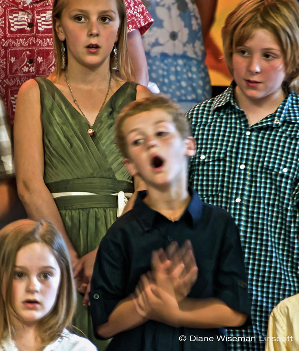 """""""Candid Children: Boy singer"""""""