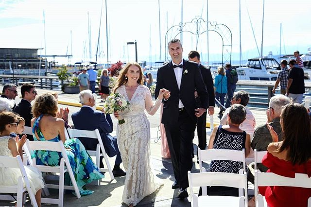 Introducing Mr. and Mrs. Trbic!! . . #weddingphotographer #vows #weddingphotography #LindelofPhotography #LPwedding #LPcouples #washingtonphotographer #seattlewedding #brideandgroom #ceremony #mrandmrs #2018wedding #ido #edmondsyachtclub
