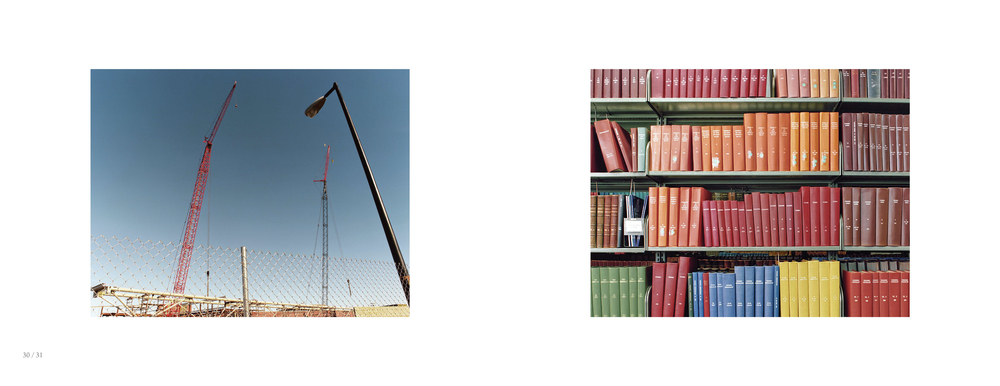 Vertical build/ Reference stacks , diptyck | Recollection, 2011