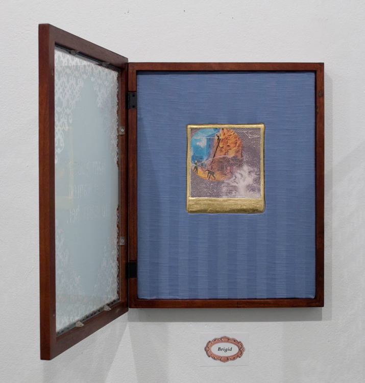 Student Samples 2009- Present | Installation II, Digitized Lantern Slide Composite on Plaster.