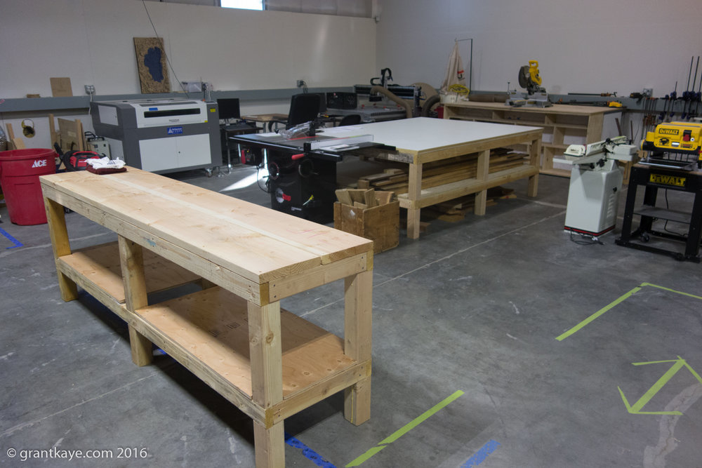 The wood shop has state-of-the art tools for traditional and high-tech woodworking. Read more on the wood shop page.