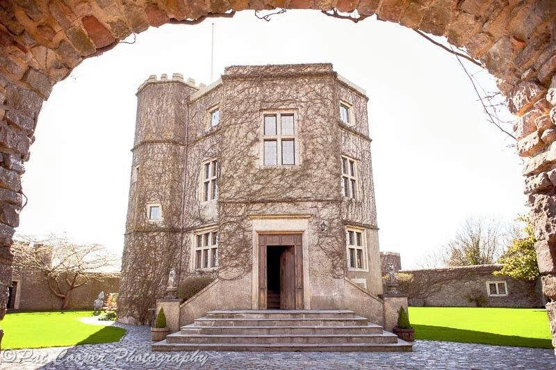 Walton Castle, a unique venue tucked away in Clevedon with beautiful panoramic views of the South West.Available for hire for the whole weekend of your wedding, complete with accommodation, swimming pool and games room - find out more at  waltoncastle.com   Image courtesy of Pat Cooper Photography at  patcooper.net