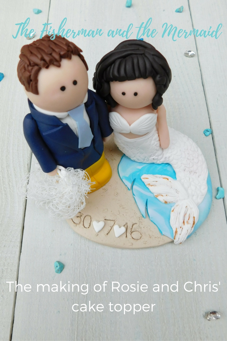 Today's feature focuses on Rosie and Chris and their cute seaside-themed cake topper.