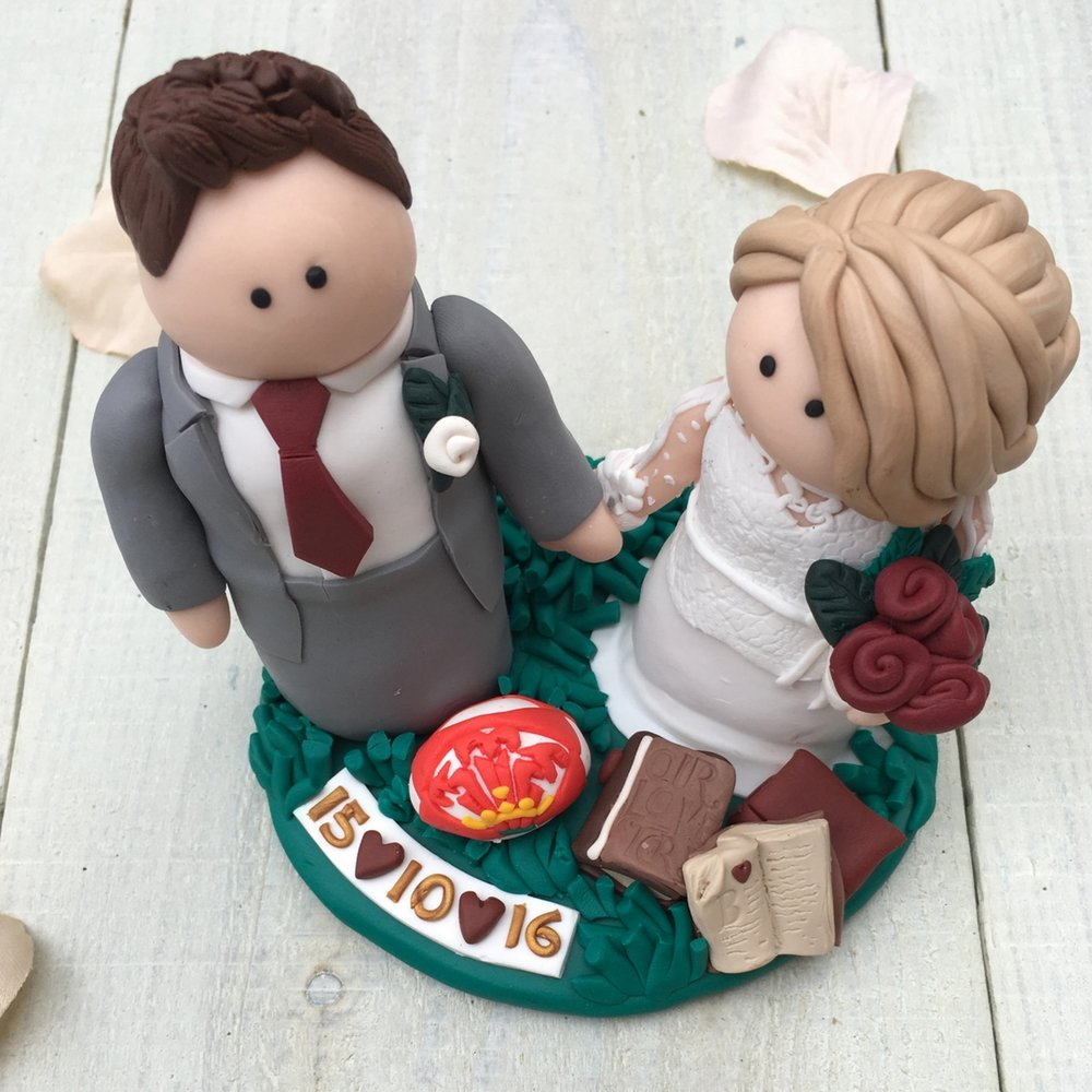 Designed by the groom-Owen and Becky's cake topper
