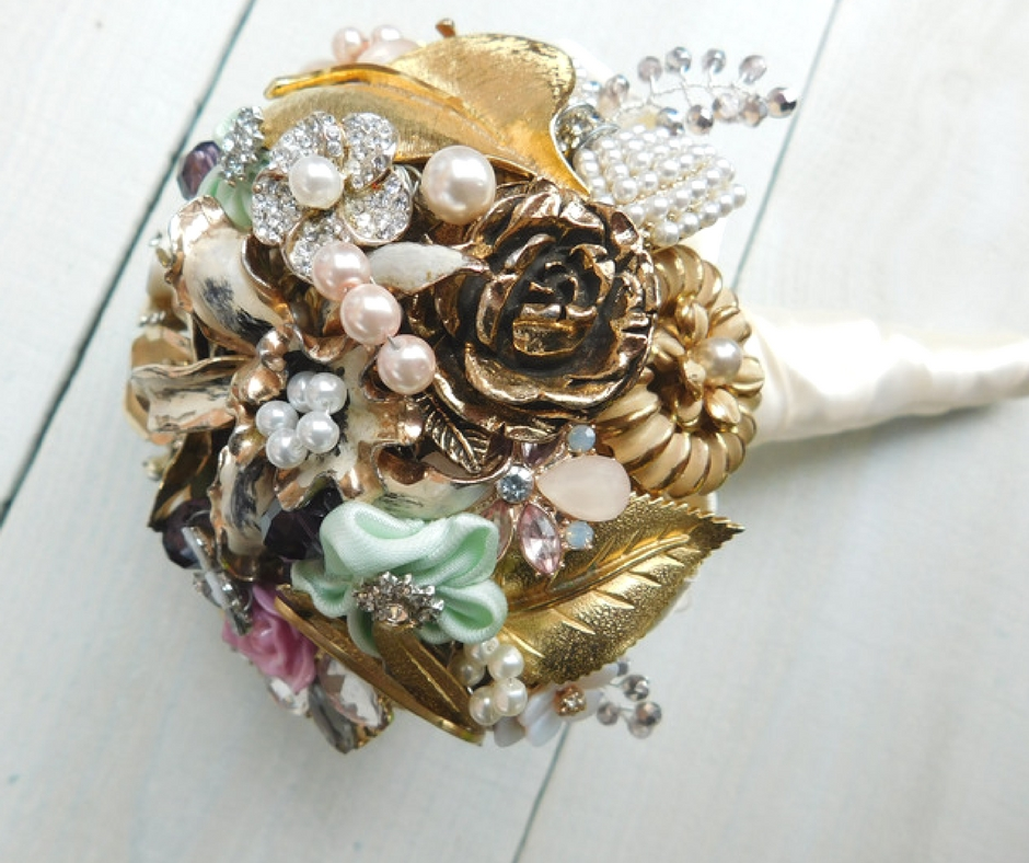 I'll help you decide which brooches will work in your bouquet