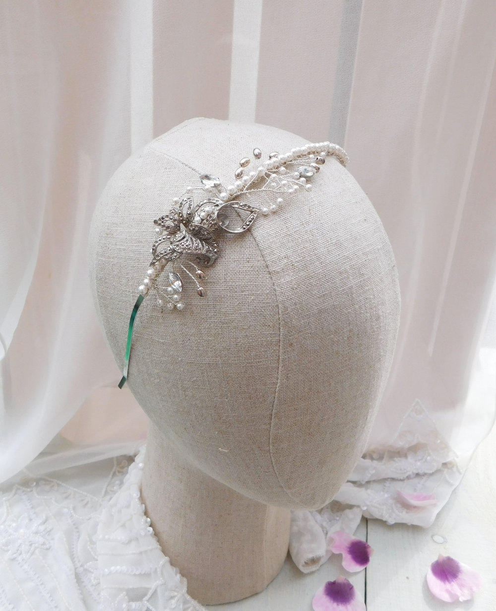 Tiaras  sit securely in your hair - perfect for brides who tend to fiddle with their hair!