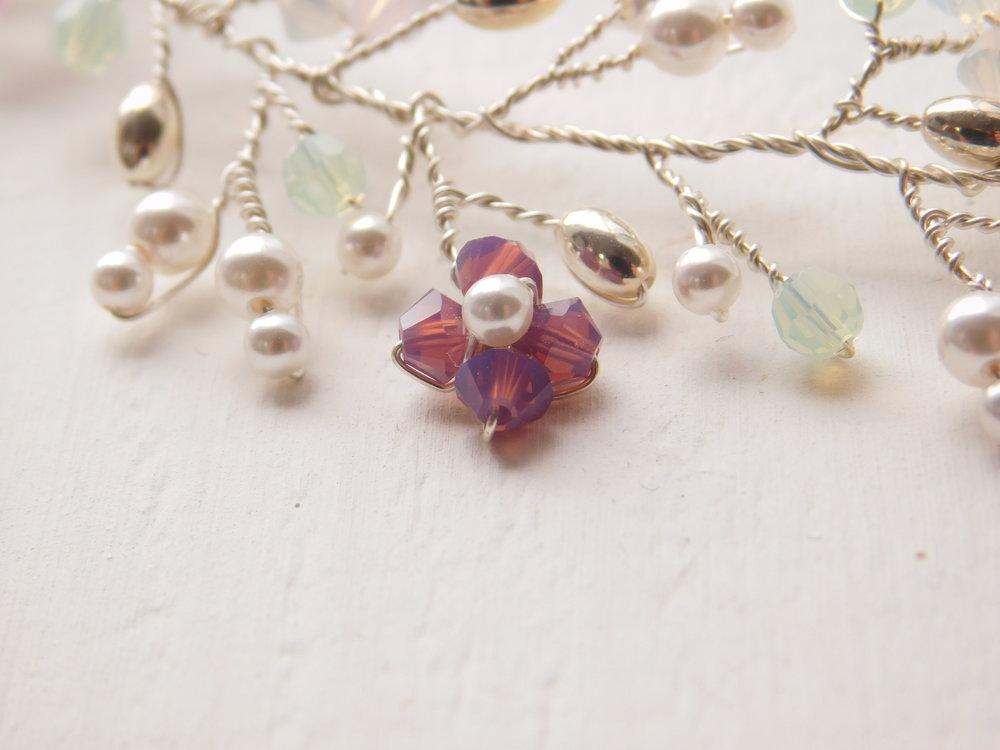 Orchid necklace details