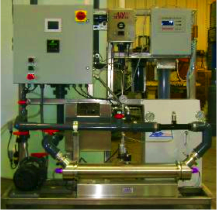 An ultraviolet ozone advanced oxidation system. This system is for individual applications and is not for large applications yet. Via  Spartan Water treatment