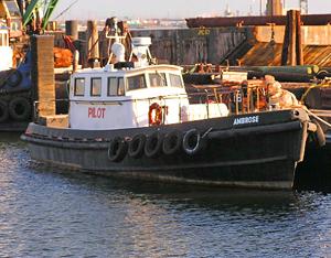 "Hudson River pilot boat ""Ambrose."""
