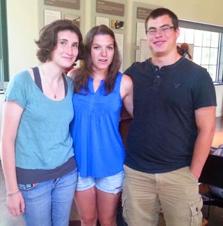 Caroline Hoctor, Lindsay Avolio and Dan Schwab