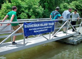 Headed for the Bannerman tour boat.  Photo by Paula Butler