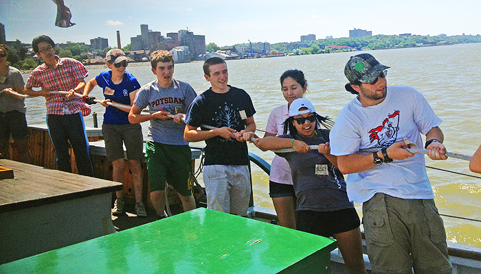 RiverU students haul away aboard Clearwater