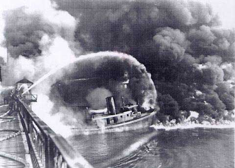 This image of the Cuyahoga River on fire in 1952 is often incorrectly identified as the much smaller, 20-minute fire of burning river debris in 1969,which was so brief,neither reporters nor photographers could document it in real time.Fires on industrialized American rivers while not common, were certainly not unknown. This image from the website of the National Oceanographic and Atmospheric Administration inaccurately credits the fire with spurring environmental legislation when in fact the hard legislative work of leaders like Senator Edmund Muskie and Senator Gaylord Nelson began in the mid-1960s.