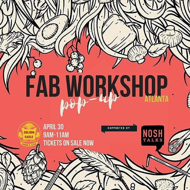 Where are all my LADIES at?! We are SO excited to support the @thisisfabchs Workshop Pop-Up with the Atlanta hospitality community. TWO WEEKS from today (Monday April 30th 9am-11am $15 pp) co-hosted with  @goldeneagleatl @charlesandjess. Coffee & Confessions with @jenhidinger of @staplehouse @givingkitchen,@rutabaga2 Anne Quatrano of @starprovisions,  @rootbakingco @im.in.colour, Suzi Sheffield of @beautifulbrinysea, Moderated by @kyletibbsjones of @bittersoutherner Ticket Link in BIO.