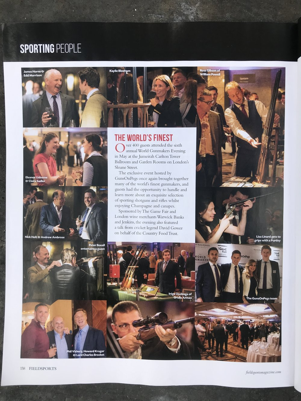 Full page spread of some of the best photographs from the event.
