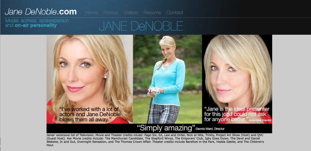Jane Denoble web site